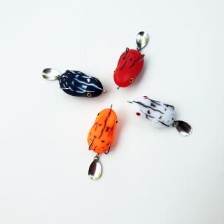 Mồi câu lure cá lóc SUPER FROG - Mồi nhái hơi câu lure hiệu quả, mồi giả chuyên câu lure ( Ngu Long ) thumbnail