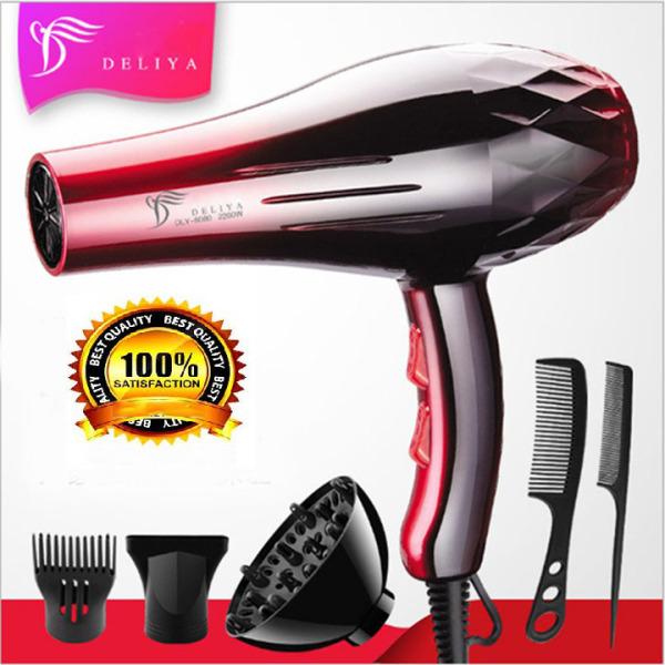 Máy sấy tóc Deliya8080 công suất 2200W - 3 chế độ sấy nóng, vừa, mát với 2 tốc độ gió không lo tóc hư tổn [ TẶNG KÈM 5 PHỤ KIỆN & 1 PHẦN QUÀ HẤP DẪN - BẢO HÀNH 1 NĂM - 1 ĐỔI 1 TRONG 7 NGÀY ]