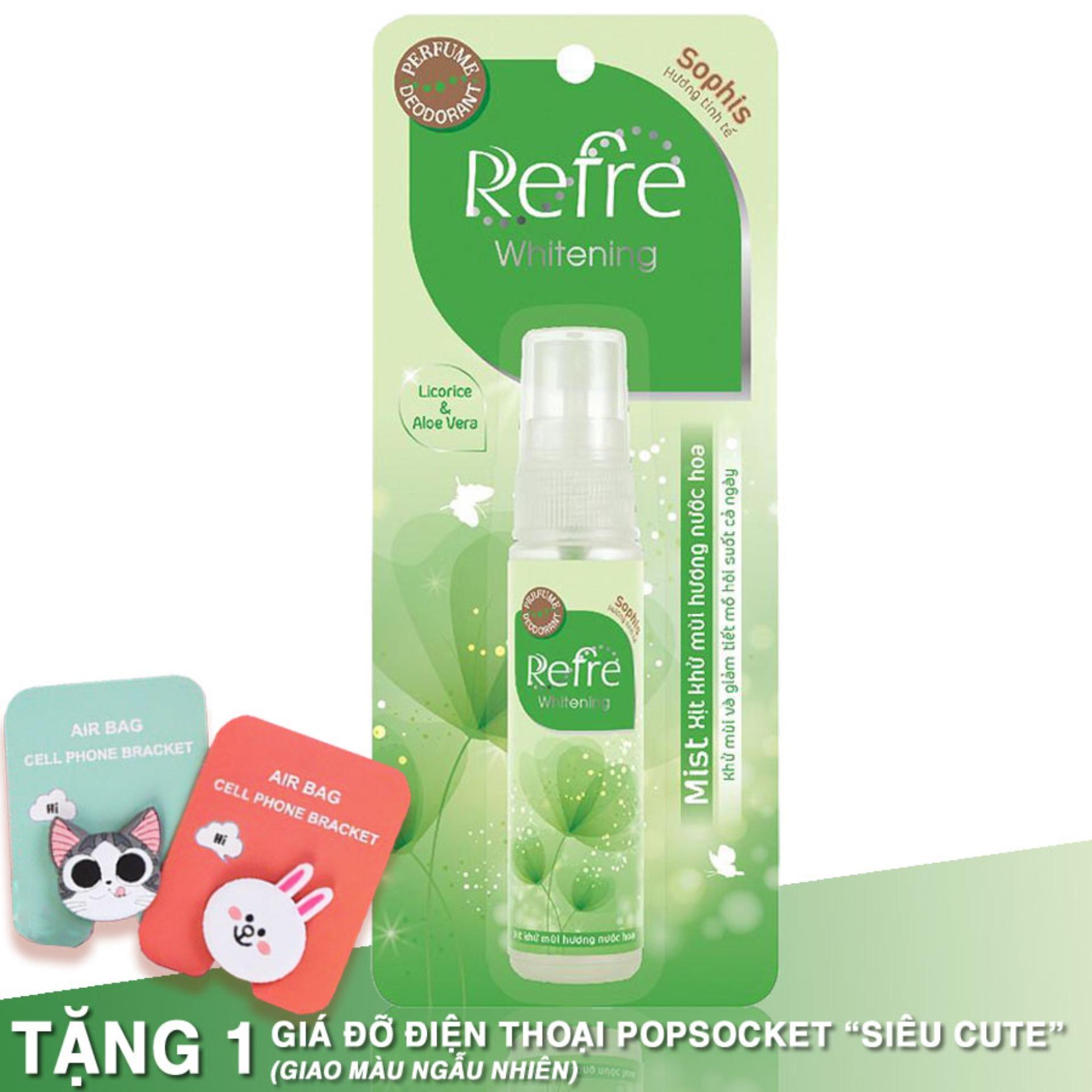 Xịt khử mùi hương nước hoa Refre Whiterning Sophis (Hương tinh tế) 30ml nhập khẩu