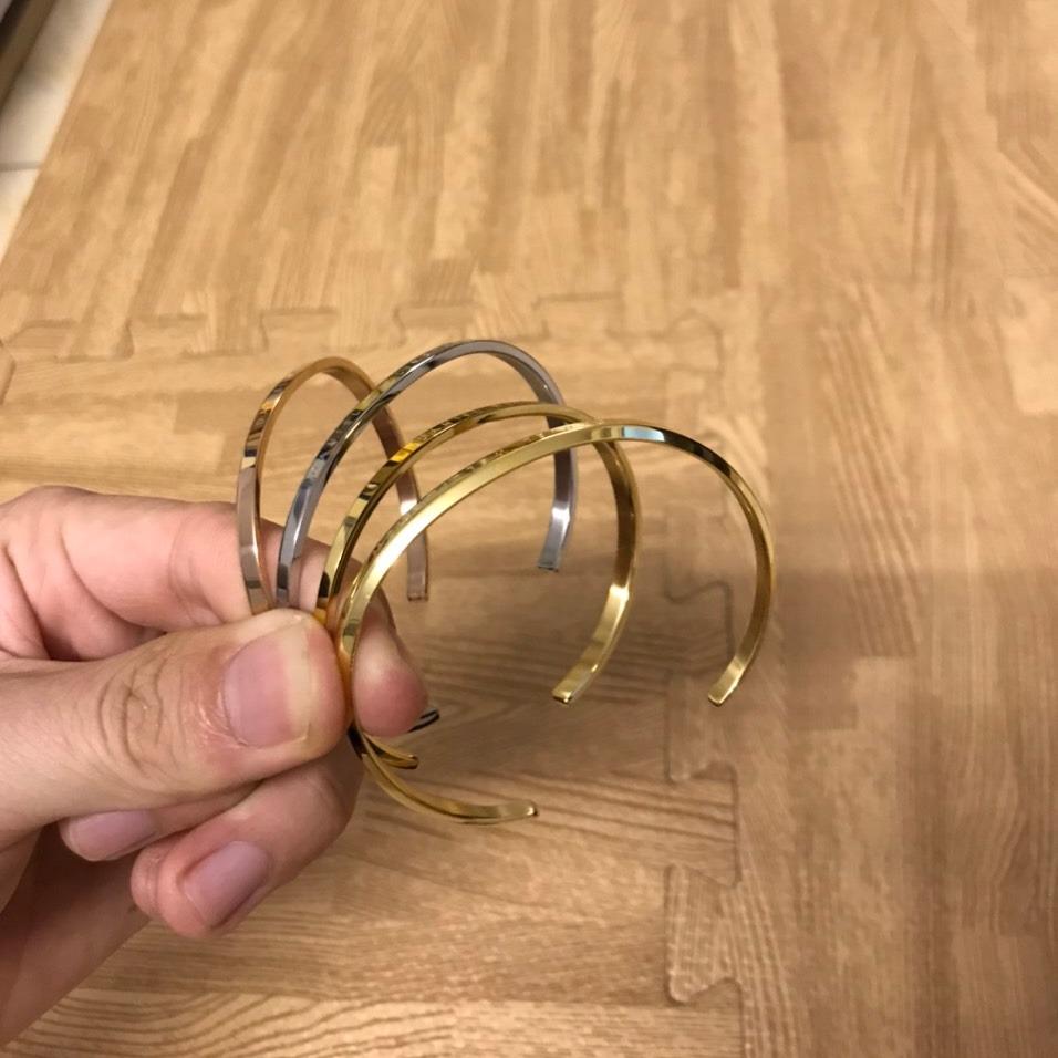 [HCM]Vòng tay lắc tay nam nữ cuff dw titanium thời trang - Bảo hành 12 tháng [KHÔNG KÈM HỘP]