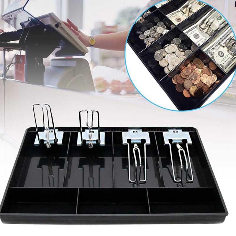 Hard Case Clip Cash Register Box New Classify Store Cashier Coin Drawer Box Cash Drawer Tray Money Counter Case