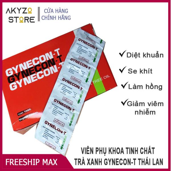 [SE KHÍT-HỒNG MÔI] Combo 2 Vỉ (10 viên) Viên Phụ Khoa Gynecon Akyzo Store Tinh Chất Trà Xanh Làm Hồng,Se Khít, Giảm Nấm Ngứa, Thơm Tho. giá rẻ