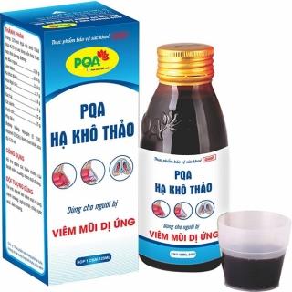 Hạ khô thảo PQA chai 125ml Dùng cho trẻ em, người lớn bị viêm mũi mãn tính, nghẹt mũi, chảy nước mũi, viêm xoang mũi, xoang tán, giúp thông mũi, thông xoang. thumbnail