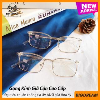 Kính cận gọng dẻo cao cấp BD905001 - Gọng kính giả cận Hàn Quốc - Bảo hành 12 tháng 1 đổi 1 thumbnail