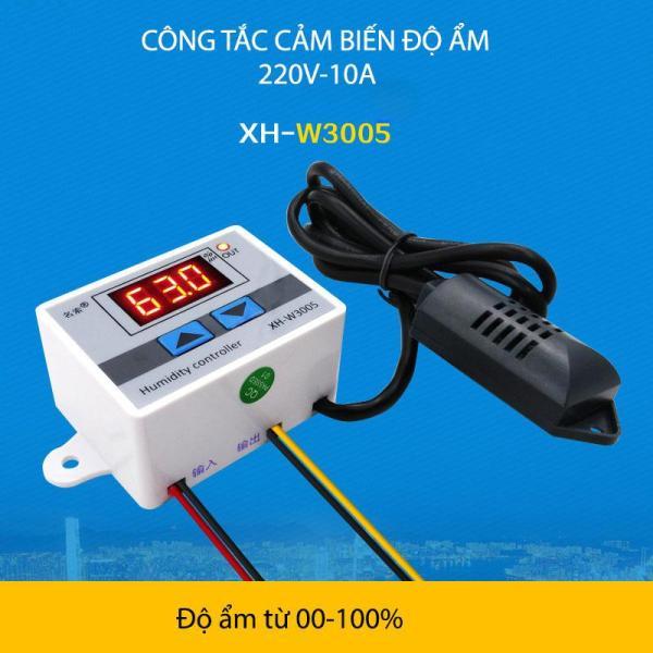 Công tắc cảm biến độ ẩm W3005-220V-10A với đầu cảm biến độ ẩm rời, tự động đóng mở thiết bị theo độ ẩm