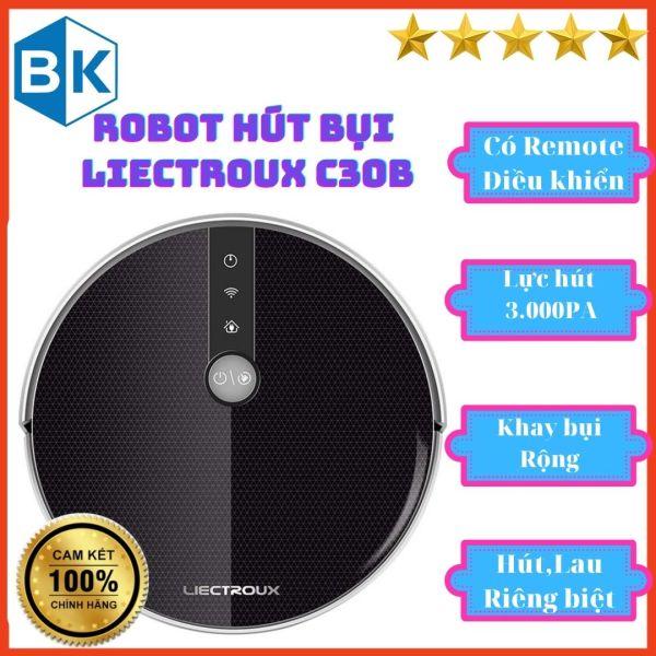 Robot hút bụi Liectroux C30B Chính hãng, sạc tự động, wifi, tiếng Việt, điều khiển từ xa, đặt lịch lau dọn thông minh
