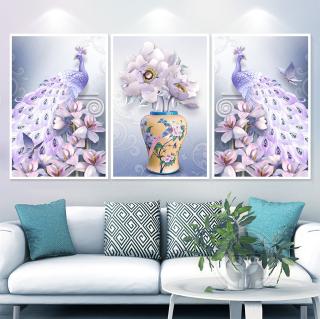 Tranh treo tường hiện đại công & hoa mộc lan in trên canvas có khung, trang trí phòng khách, phòng ngủ ( 10015567) thumbnail