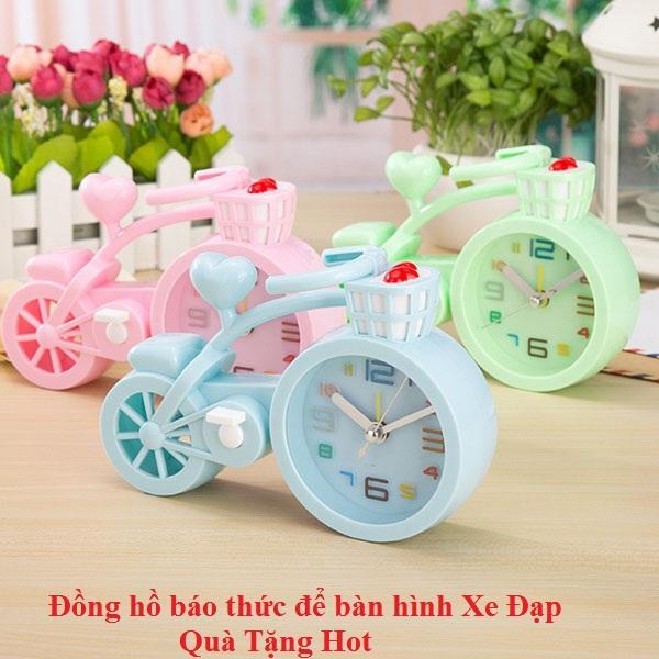 [ Quà tặng hot hơn bao giờ hết ] Hãy Sắm Cho Mình 1 Đồng hồ báo thức để bàn mini hình xe đạp đáng yêu bán chạy