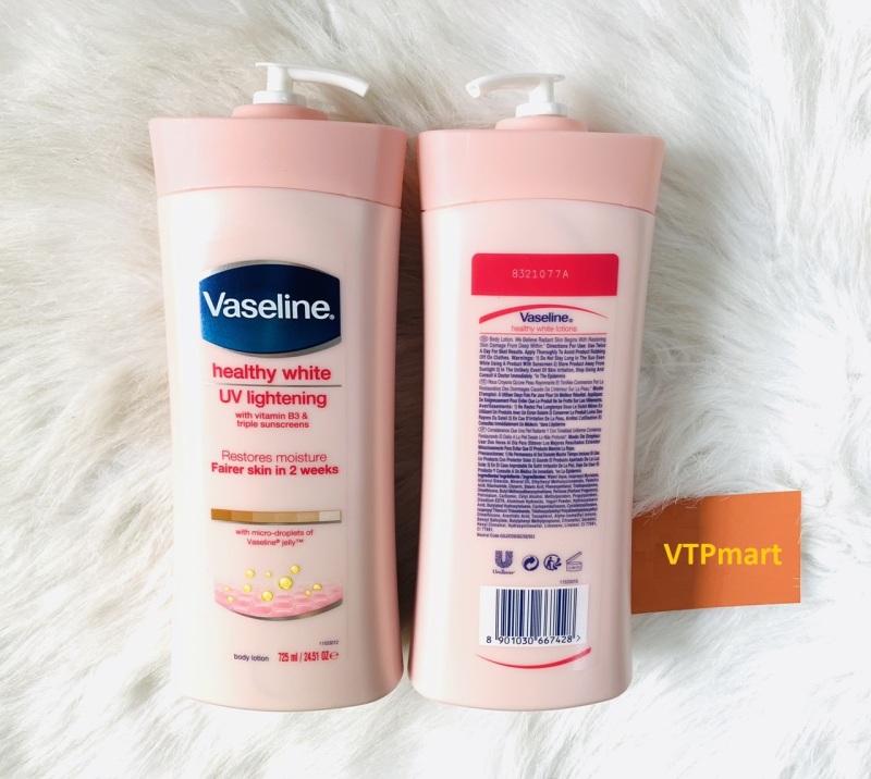 Dưỡng Thể Vaseline Healthy White UV Lightening 725ml Mỹ - Cam Kết Chuẩn