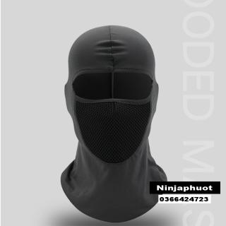 Khăn Phượt Trùm Đầu Ninja Điều Hòa Ari Cao Cấp - Mặt Nạ Chống Nắng, Chống Tia Uv Đa Năng Đi Xe Máy,Chơi Thể Thao (Màu Đen) thumbnail