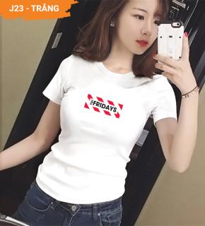 Áo thun nữ đẹp XBeauty J23 áo phông nữ vải Cotton 100% cao cấp. Có 2 màu (Đen Trắng). Áo thun thời trang Nữ cá tính sang trọng thumbnail