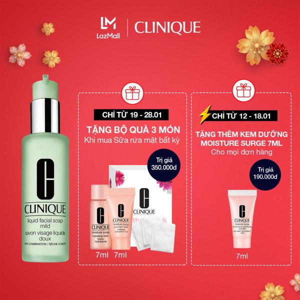 Sữa rửa mặt cho da khô và da hỗn hợp Clinique Liquid Facial Soap Mild With Pump - Cleanser 200ml