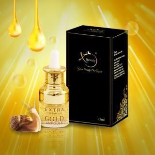 Serum Ốc Sên XBeauty Gold Snail Ampoule 25ml 20ml Hàn Quốc - Serum Ốc Sên Gold Perfect skin care chăm sóc da hoàn hảo XBeauty Gold Snail Ampoule có 2 dung tích 20ml và 25ml thumbnail