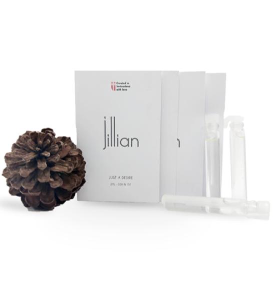 Mẫu thử Nước hoa Jillian - Miniset 5 chai x 2ml (gồm mùi hương dành cho Nam, Nữ và Unisex)
