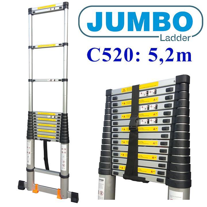 Thang nhôm rút JUMBO C520 - 5m2