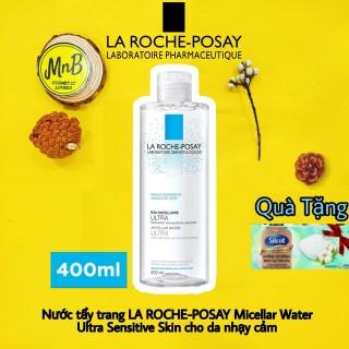 Nước tẩy trang La Roche Posay Micellar Water Ultra Sensitive Skin cho da nhạy cảm, da dầu mụn, da siêu nhạy cảm không gây mụn làm sạch sâu chân lông ngừa nguy cơ nổi mụn 400ml thumbnail