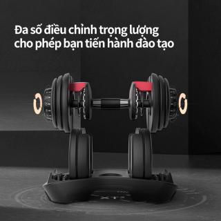 Tạ đơn điều chỉnh 1 Tạ tay điều chỉnh Dumbell Cao Cấp 24kg( Có khay đựng ) thumbnail