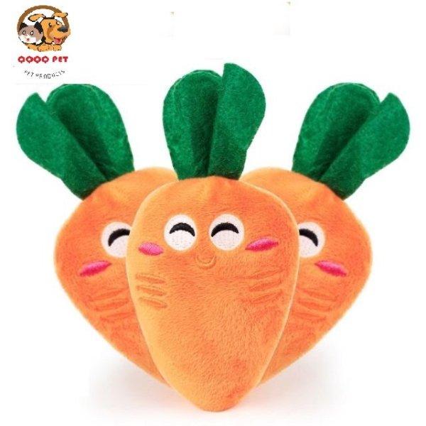 Đồ chơi thú nhồi bông hình củ cà rốt cho chó mèo