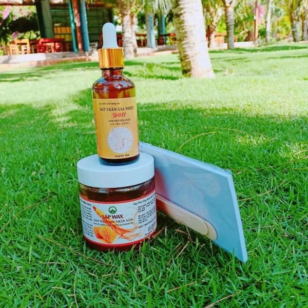 Combo Wax Lông+Mỡ Trăn Shiny Handmade (Tặng Kèm Giấy Wax Và Que Gạt) giá rẻ