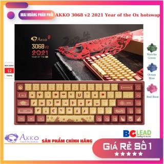 Bàn phím cơ AKKO 3068 v2 2021 Year of the Ox hotswap bluetooth 5.0 Led nền RGB, 18 chế độ Led thumbnail