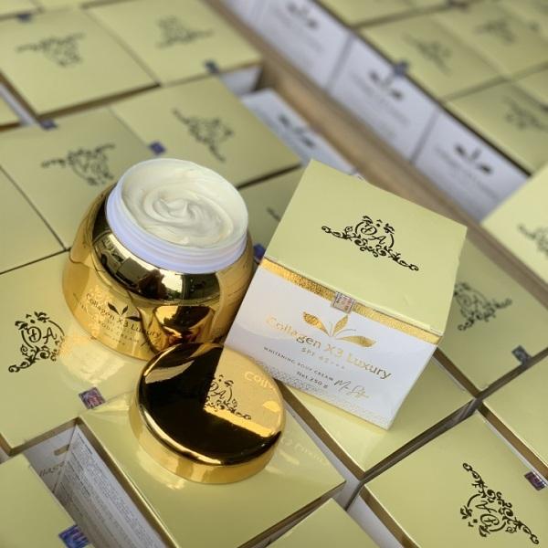 Kem body collagen x3 Luxury Đông Anh Mix Saffron 250gr Chính hãng giá rẻ
