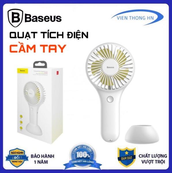 [ TẶNG DÂY ĐEO CỔ ] Quạt sạc tích điện Baseus Y100 BIGO FAN Mini USB Fan Di Động mang theo siêu nhỏ nhẹ để bàn hoặc Cầm Tay Pin bền 1800 mAH