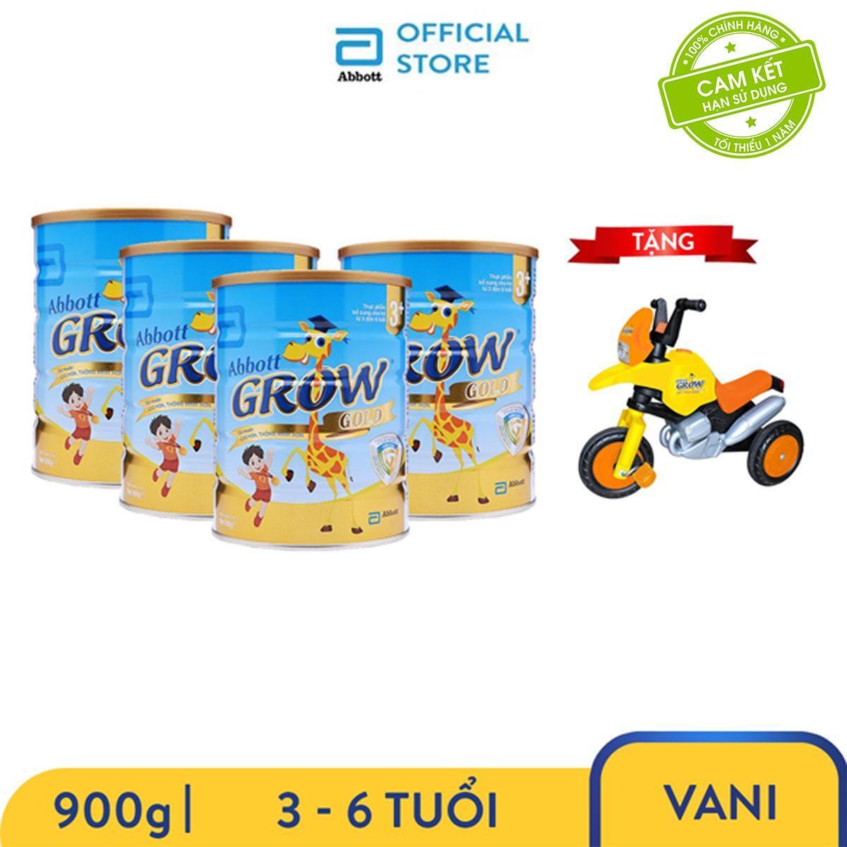 Mã Coupon Bộ 4 Lon Sữa Bột Grow 3+ 900g Tặng Xe Motor Trẻ Em