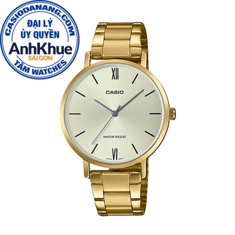 Đồng hồ nữ dây kim loại Casio Standard Anh Khuê LTP-VT01G-9BUDF