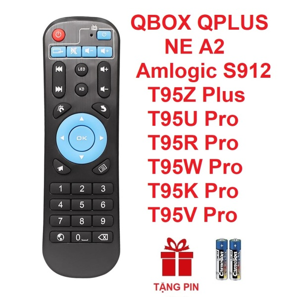 Remote điều khiển ANDROID TV BOX QBOX QPLUS T95Z Plus T95U Pro T95R Pro T95W Pro T95K ProT95V Pro amlogic S912 (HÀNG XỊN - Tặng pin)