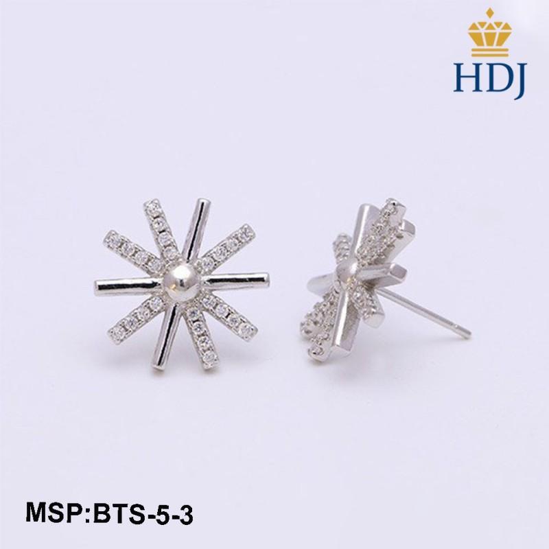 Combo dây chuyền lắc tay và khuyên tai bạc Ý 925 Hình Hậu duệ mặt trời sang trọng trang sức cao cấp HDJ mã BTS-5-3