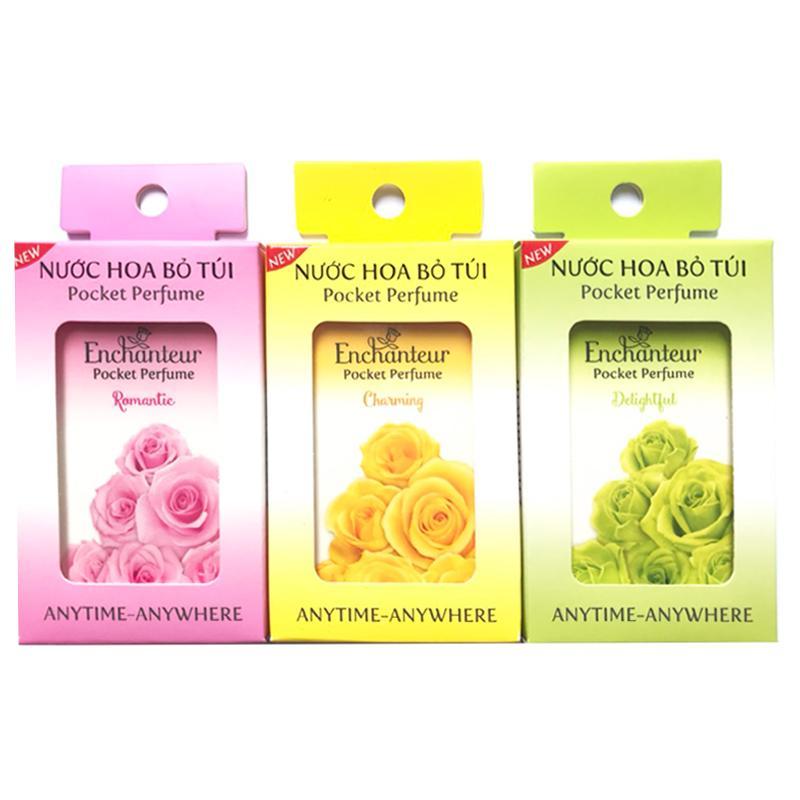 Combo 3 Chai nước Hoa Nữ bỏ túi Enchantuer Charming: Charming, Delightful, Romantic (18ml*3) chính hãng