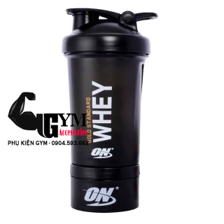 Bình lắc tập gym bi nh nươ c Shake bottle ON Gold Standard chi nh ha ng 2 ngăn thumbnail