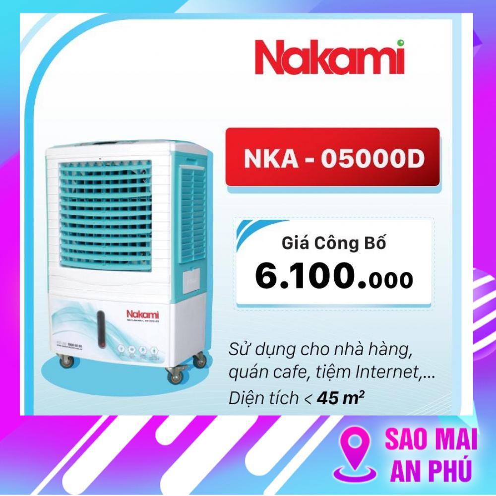 Quạt điều hòa, hơi nước, làm mát không khí NAKAMI NKA-05000D ( Có remote hẹn giờ )