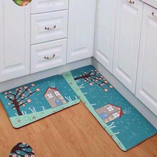 Combo 02 thảm trải sàn nhà bếp ( 120x40 cm và 60x40 cm) - Thảm Trải Sàn Nhà Bếp In Hình Sắc Nét