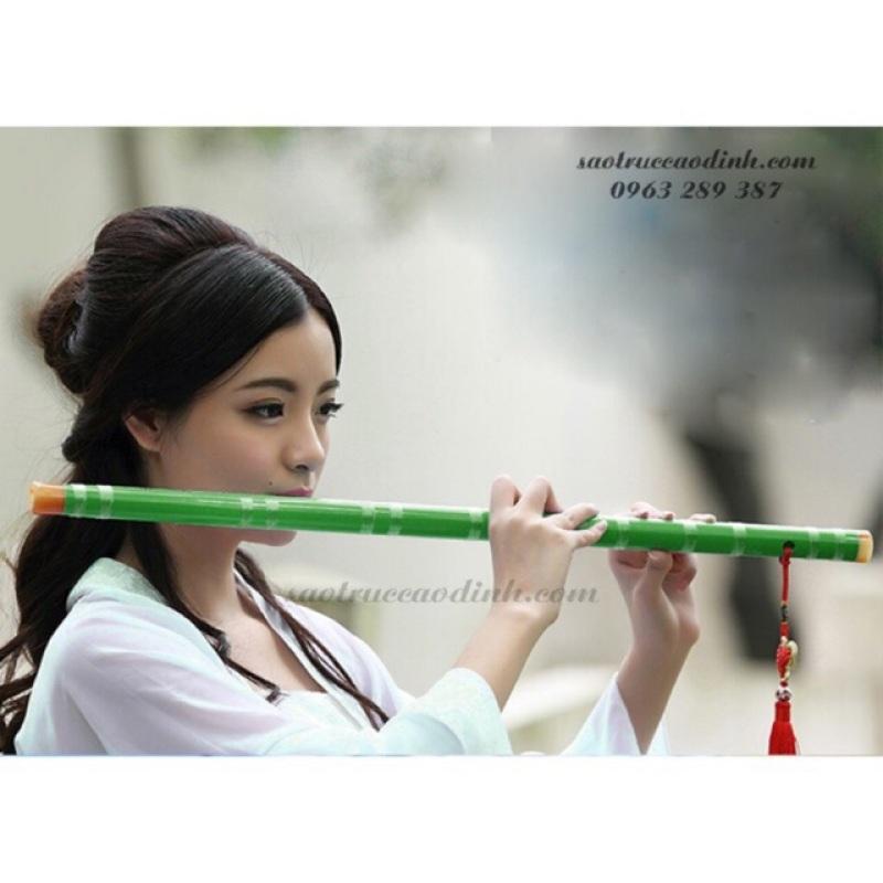 Sáo Trúc Trung Hoa D27  - Sáo Dizi Nạm Ngọc Xanh