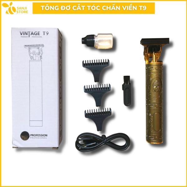 Tông đơ cắt tóc chấn viền Vintage T9 Cao Cấp, Tông đơ cắt tóc cho trẻ em và người lớn. Chất liệu hợp kim sắc bén bền bỉ và sang trọng - Sanji Shop giá rẻ