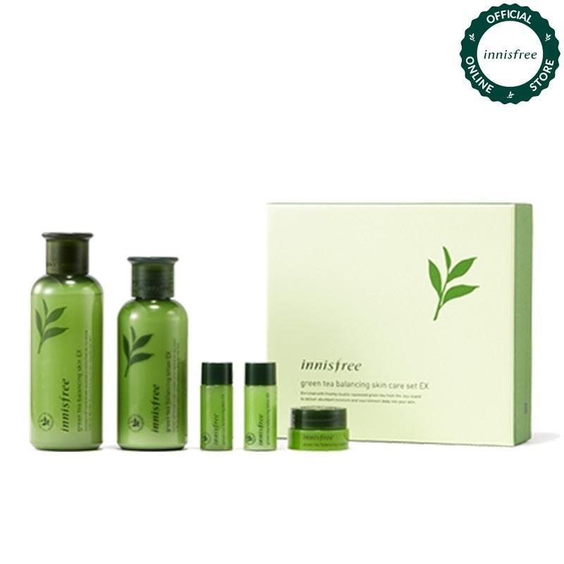 [Phiên bản giới hạn] Bộ sản phẩm dưỡng ẩm cân bằng da từ trà xanh Innisfree Green Tea Balancing Skin Care EX Set