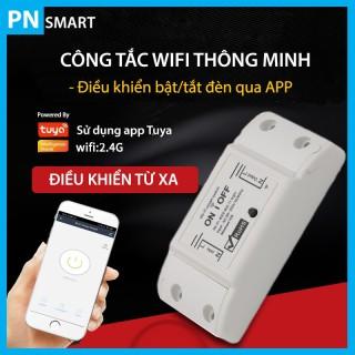 Công Tắc Wifi Điều Khiển Từ Xa Tuya Smarthome, bật tắt đèn qua điện thoại thumbnail