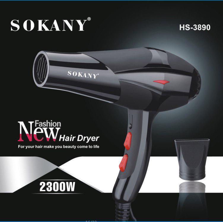 máy sấy tóc SOKANY - công suất lớn, bảo hành ( 12 tháng) + Tặng kèm đầu tạo kiểu tóc nhập khẩu