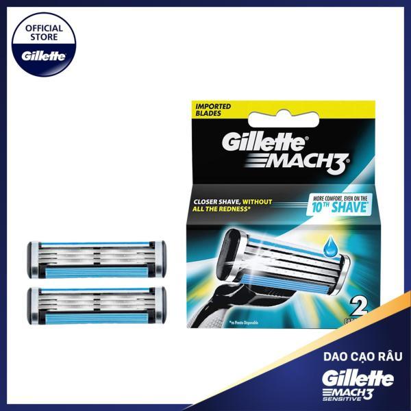 [18-25 Tặng Balo Gillette đơn từ 279k] Lưỡi dao cạo râu Gillette Mach3 Classic cổ điển ( 2 lưỡi/vỉ )