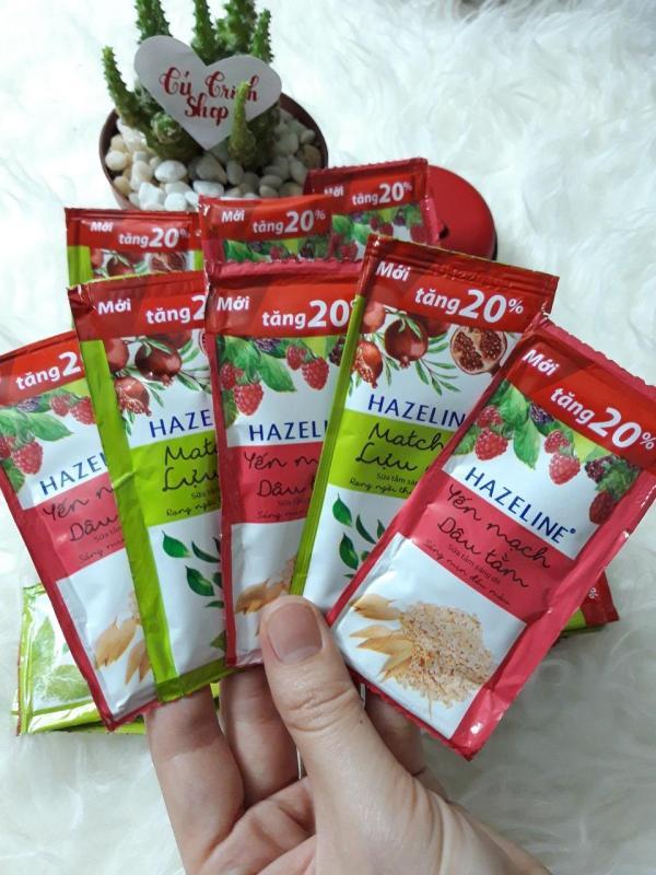 (HÀNG TẶNG) Combo 50 Gói Sữa Tắm Hazeline (6g/ bich)+ Túi Xinh Xắn. nhập khẩu