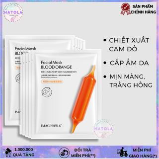 Mặt nạ giấy dưỡng trắng cấp ẩm COMBO 6 chiết xuất cam đỏ thiên nhiên an toàn, lành tính, không gây bí, mụn phù hợp với làn da nam và nữ IMAGES mask nội địa Trung -MNCD thumbnail