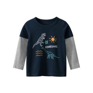 [ VIDEO] H151 Áo thun dài tay bé trai 27KIDS chất liệu 100% cotton in hình ROARSOME DINO (BLACK) cho bé từ 10-33kg (2 tuổi -10 tuổi ) an toàn mềm mịn thích hợp cho bé đi học đi chơi thumbnail