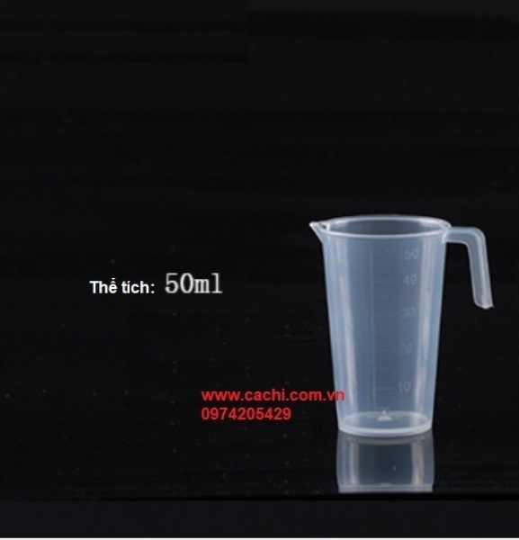 Ca đong bằng nhựa có chia vạch 50ml