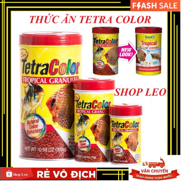 Thức Ăn Cá Cảnh Tetra Color Tropical (Hộp 300Gram)- Cám cá tăng màu