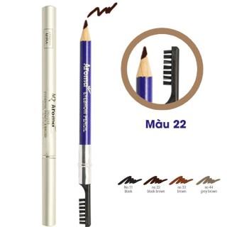 Chì vẽ chân mày Aroma Eyebrow Pencil No.22 Black brown 2g (Nâu Đen) thumbnail