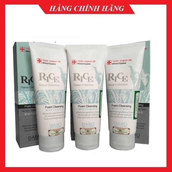 Sữa rửa mặt simple trắng da, xóa mụn dành cho da dầu mụn DABO RICE Hàn quốc 150ml/Hộp
