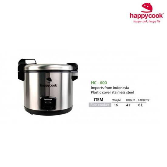 Nồi cơm điện 6 lít nắp gài Happy cook HC-600 - IGO SHOP
