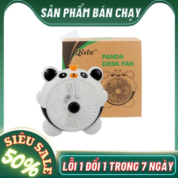 Quạt Để Bàn Hình Thú-Quạt mini để bàn, quạt mini cầm tay, quạt mini usb, quạt mini tích điện, quạt mini hình thú cực dễ thương-Quạt để bàn-Quạt hình thú-Quạt hình thú Panda Desk Fan