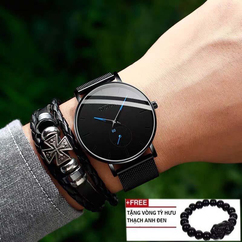 Đồng hồ nam DIZIZID mẫu mới NEW&HOT nhất năm 2019 thiết kế dây thép lụa bảo bảo hành 12 tháng bán chạy